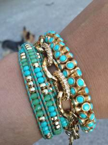 Turquoise Arm Party_April 22