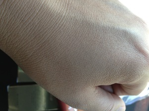 BB Cream Blended into my hand